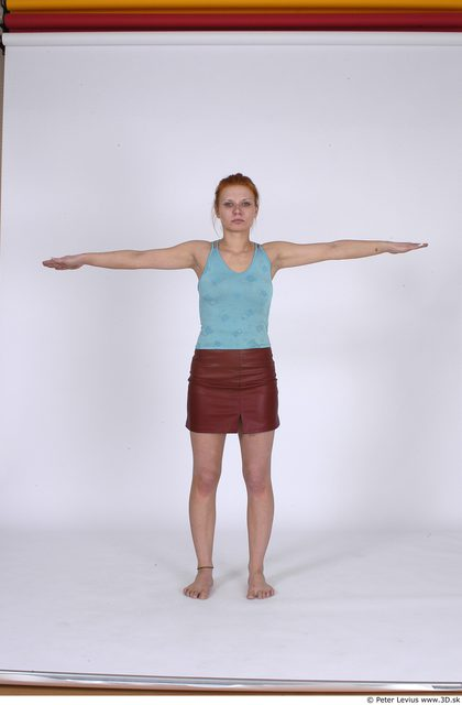 Whole Body Woman T poses Casual Average Studio photo references
