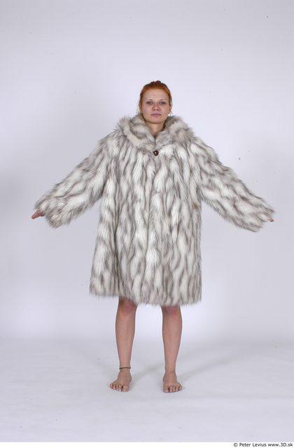 Whole Body Woman Casual Coat Average Studio photo references