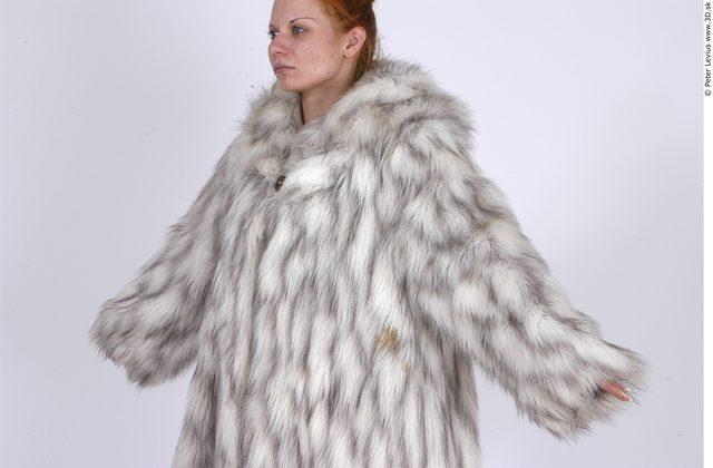 Upper Body Whole Body Woman Casual Coat Average Studio photo references