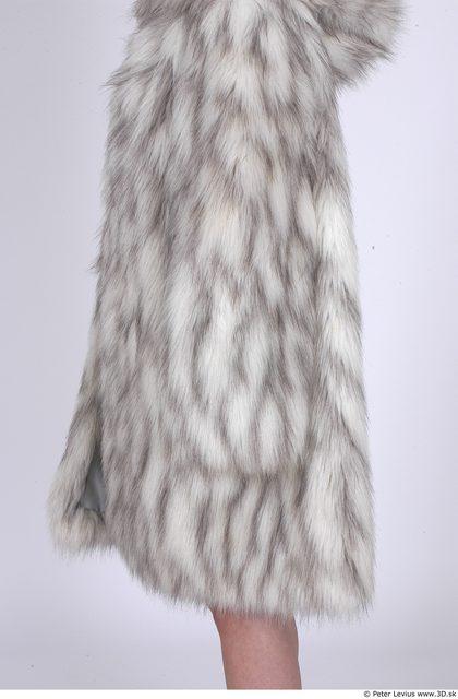 Arm Whole Body Woman Casual Coat Average Studio photo references