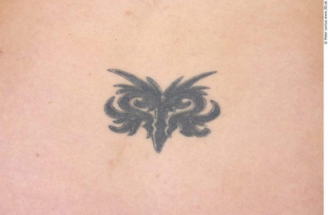 Whole Body Skin Woman Tattoo Nude Average Studio photo references