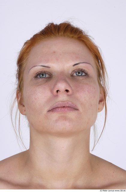 Whole Body Head Woman Nude Average Studio photo references
