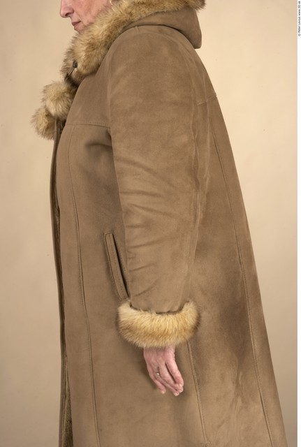 Arm Whole Body Woman Formal Coat Chubby Studio photo references