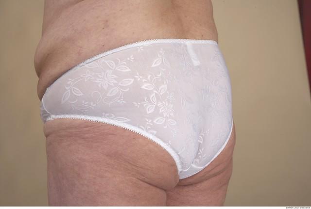 Whole Body Bottom Woman Underwear Chubby Panties Studio photo references