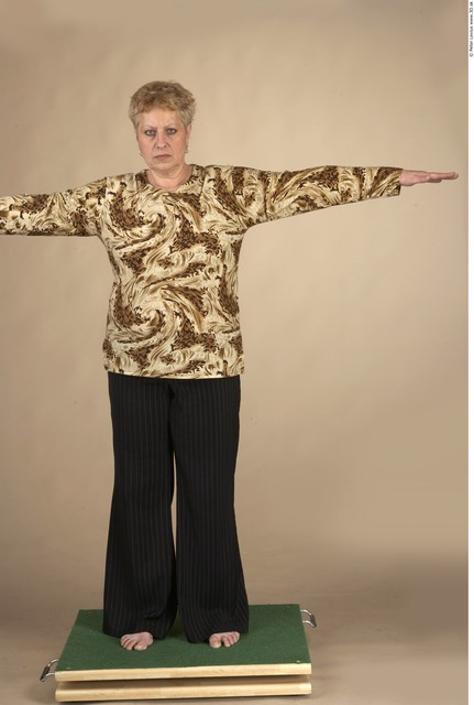 Whole Body Woman T poses Formal Chubby Studio photo references