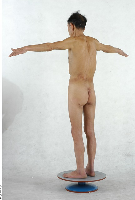 Whole Body Man Woman Artistic poses T poses Asian Nude Underwear Shoes Underweight Studio photo references