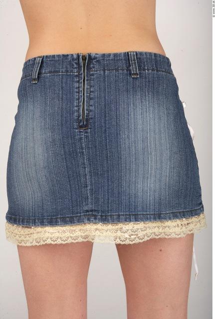 Whole Body Bottom Woman Nude Casual Skirt Slim Studio photo references