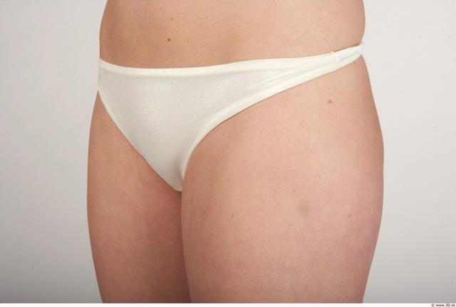Hips Whole Body Woman Nude Underwear Slim Panties Studio photo references
