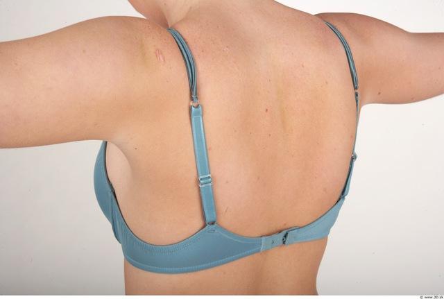 Whole Body Back Woman Nude Underwear Bra Slim Studio photo references