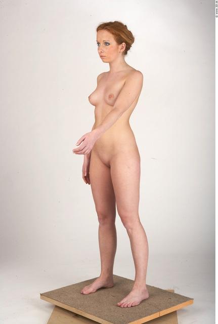 Whole Body Woman Nude Slim Studio photo references
