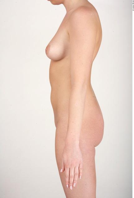 Arm Whole Body Woman Nude Slim Studio photo references
