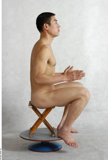 Whole Body Man Artistic poses Animation references Asian Nude Average Studio photo references