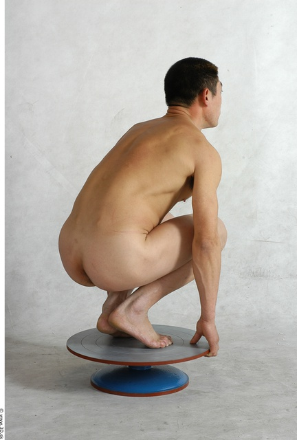 Whole Body Man Animation references Asian Nude Average Studio photo references