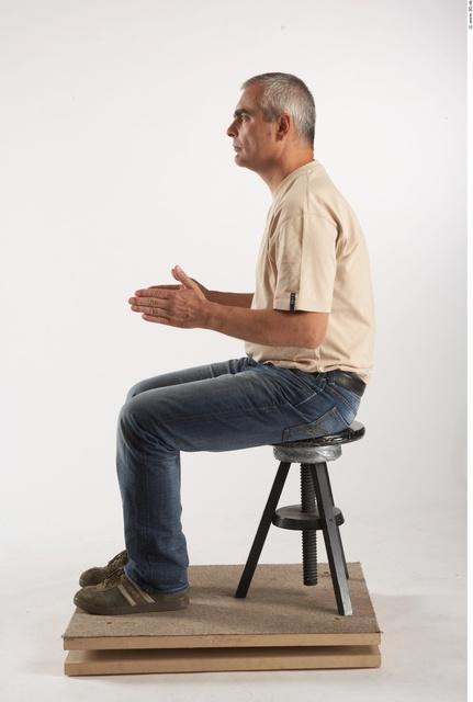 Whole Body Man Artistic poses White Casual Average