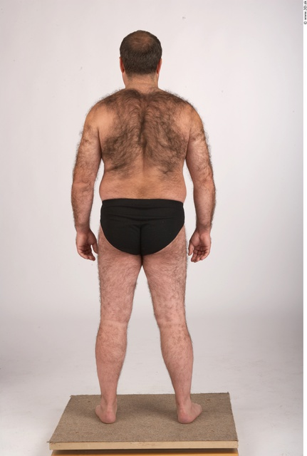 Whole Body Man Underwear Shoes Chubby Studio photo references