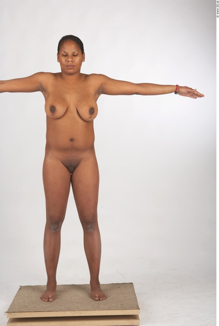 Whole Body Woman T poses Nude Chubby Studio photo references