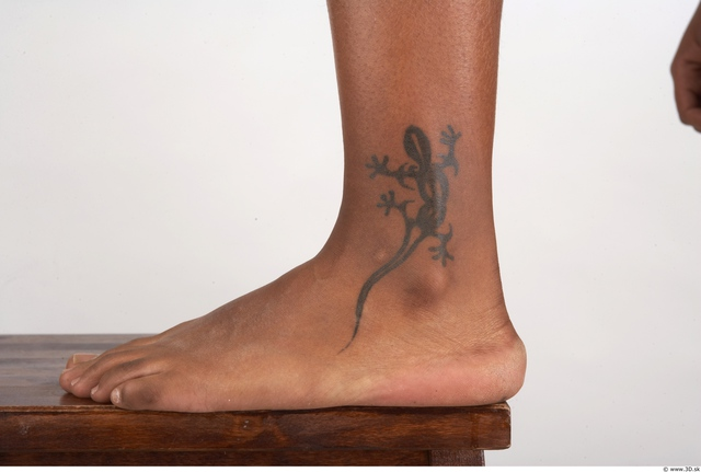 Foot Whole Body Woman Tattoo Nude Chubby Studio photo references