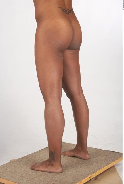 Leg Whole Body Woman T poses Black Tattoo Nude Underwear Windbreaker Chubby Studio photo references
