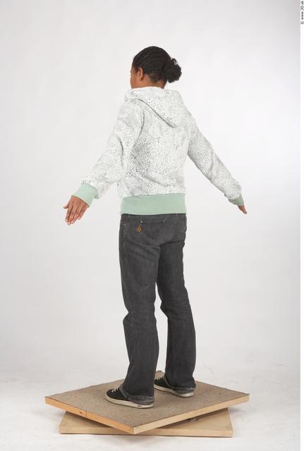 Whole Body Woman T poses Black Tattoo Casual Underwear Windbreaker Chubby Studio photo references