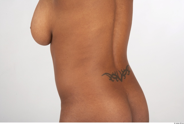 Whole Body Back Woman Nude Chubby Studio photo references