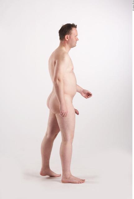 Whole Body Man Animation references White Nude Average