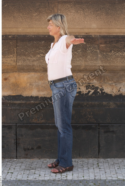Whole Body Woman T poses White Casual Average