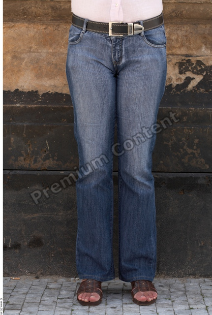 Leg Woman White Casual Jeans Average