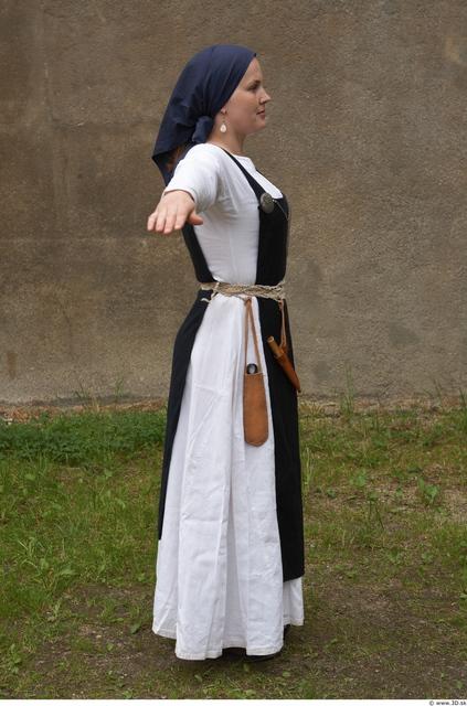 Whole Body Woman White Historical Average Costume photo references