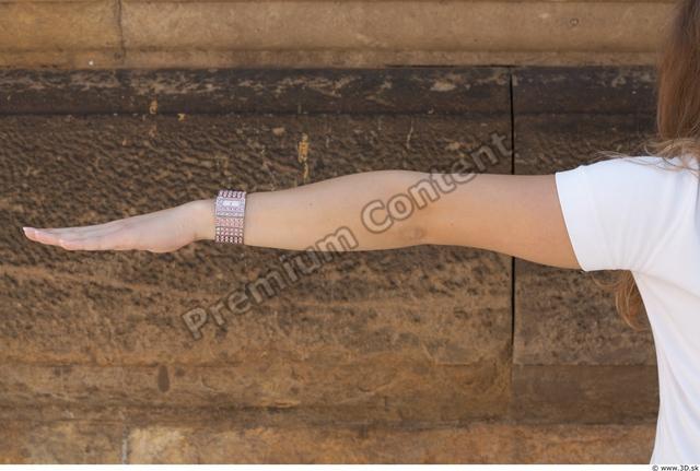 Arm Woman White Casual T shirt Slim