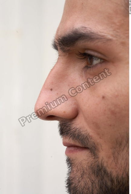 Nose Man White Casual Average Bearded