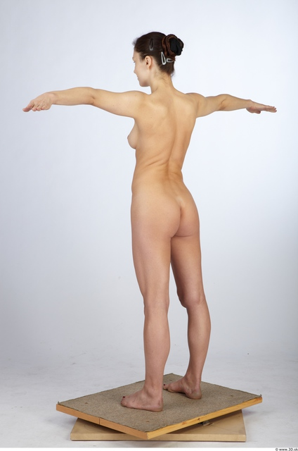 Whole Body Woman Animation references T poses Nude Slim Studio photo references