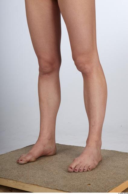 Calf Whole Body Woman Animation references Nude Slim Studio photo references