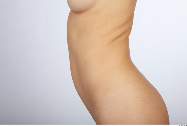 Belly Whole Body Woman Animation references Nude Slim Studio photo references