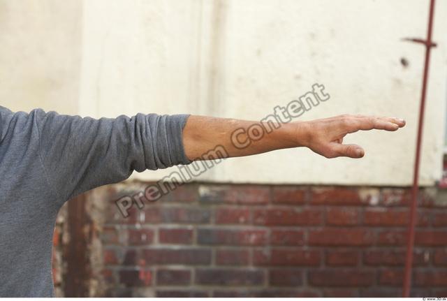 Arm Man White Casual Sweatshirt Average