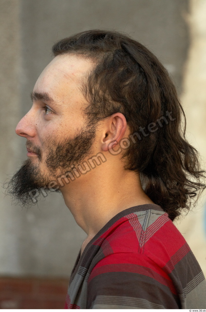 Head Man Casual Average Bearded Street photo references