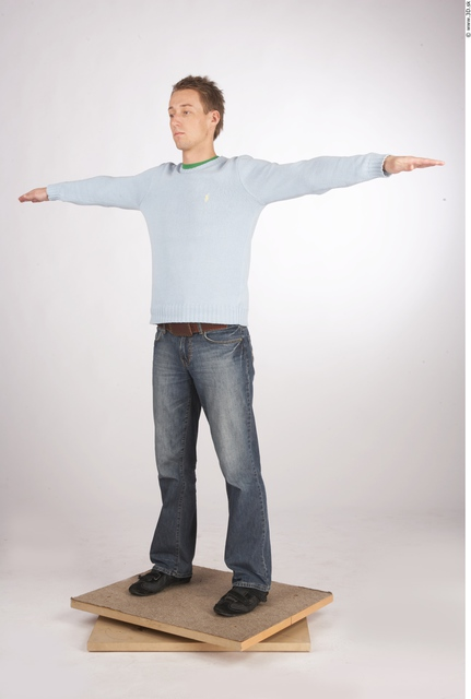 Whole Body Man Animation references T poses Nude Casual Athletic Studio photo references