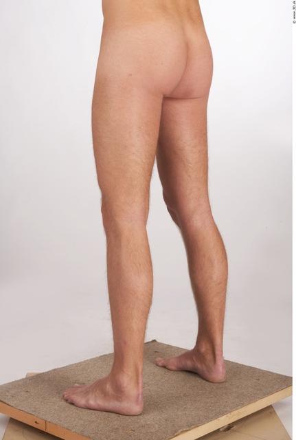 Leg Whole Body Man Animation references Nude Athletic Studio photo references