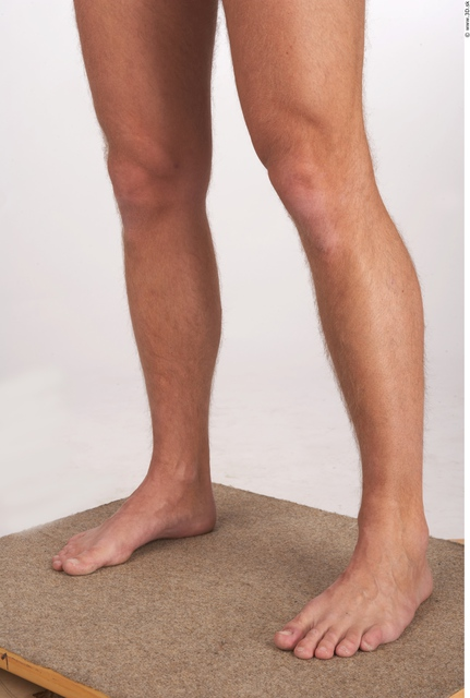 Calf Whole Body Man Animation references Nude Athletic Studio photo references