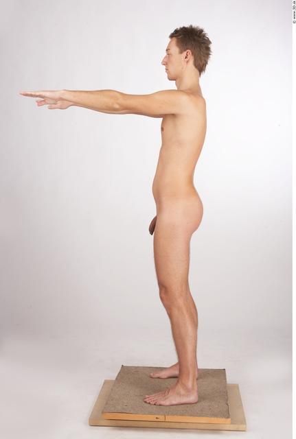 Whole Body Man Animation references Nude Athletic Studio photo references