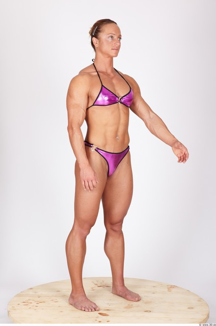 Whole Body Woman Animation references Nude Underwear Swimsuit Muscular Studio photo references