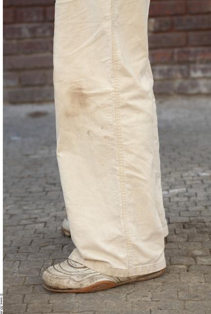 Calf Man White Casual Average