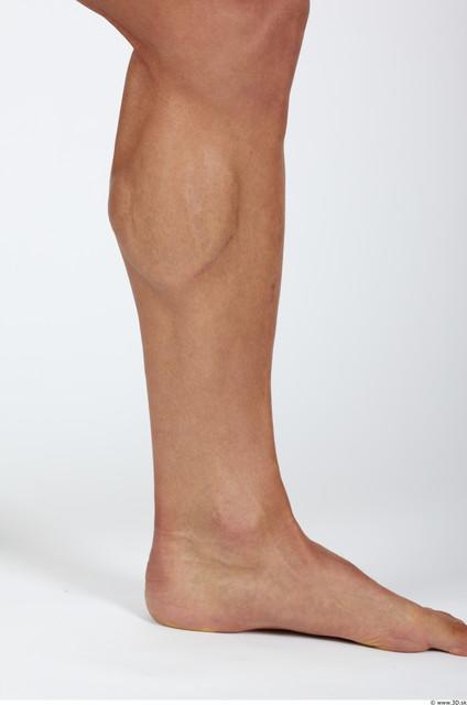 Calf Man Nude Muscular Studio photo references