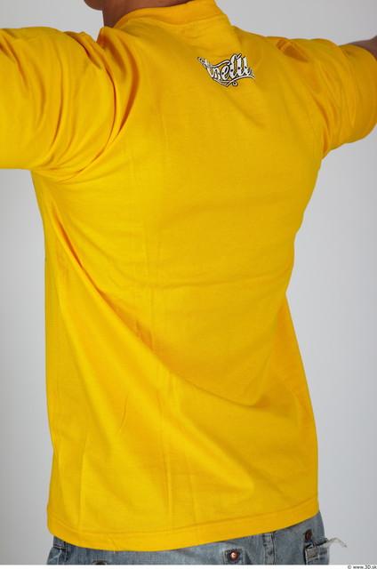 Upper Body Man Casual Shirt T shirt Muscular Studio photo references