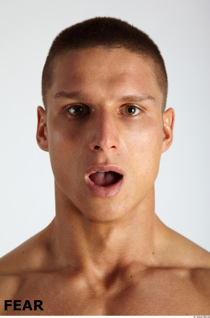 Face Emotions Man White Muscular