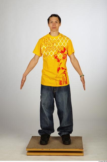 Whole Body Man Animation references Asian Casual Average Studio photo references