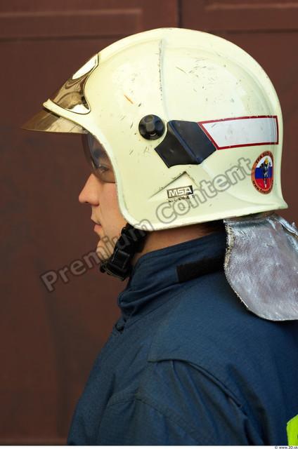 Head Man White Uniform Helmet Athletic