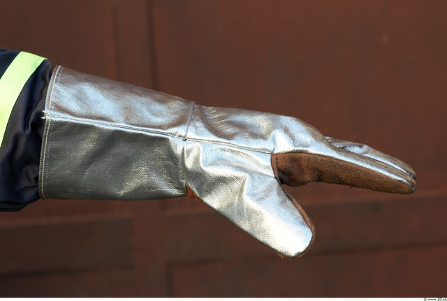Hand Man White Uniform Gloves Athletic