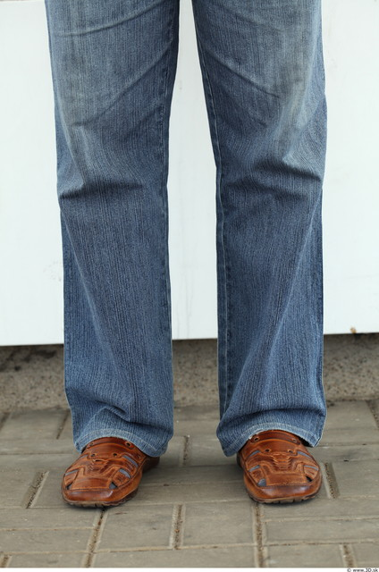 Calf Man Casual Jeans Overweight Street photo references