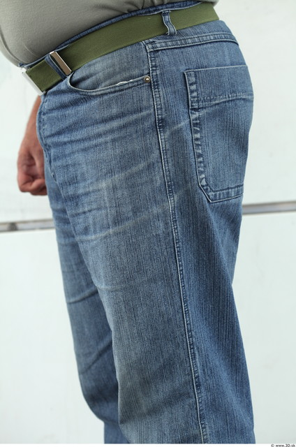 Thigh Man Casual Jeans Overweight Street photo references