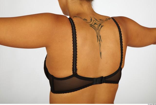 Upper Body Whole Body Woman Tattoo Nude Underwear Bra Chubby Studio photo references